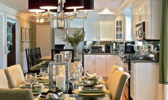 Classic Chic Home Open Concept Kitchens Dining Rooms