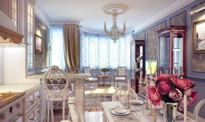 Classical Kitchen Dining Room Decor Interior Design Ideas