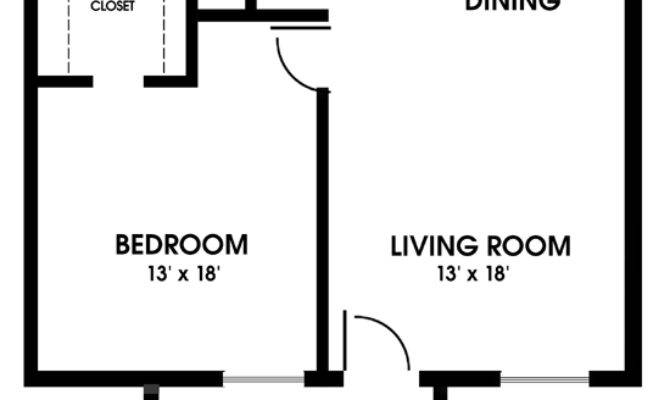 Clearview Apartments Mobile Alabama One Bedroom Floor Plan