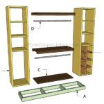 Closet Organizer Plans Howtospecialist Build Step