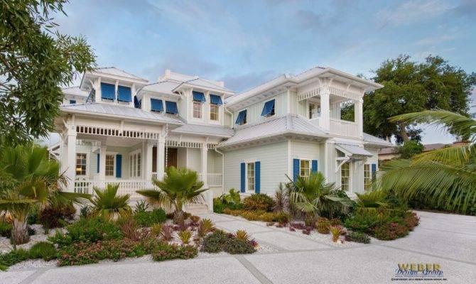 Coastal Caribbean House Plan Naples Architecture Weber