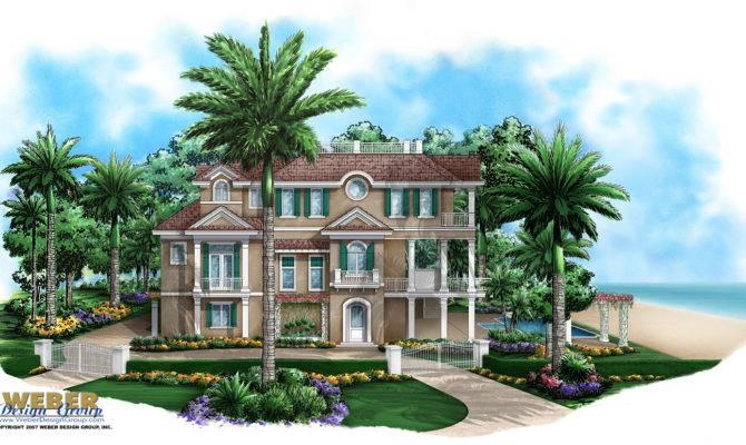 Coastal Home Plan Seaside Place Weber Design Group