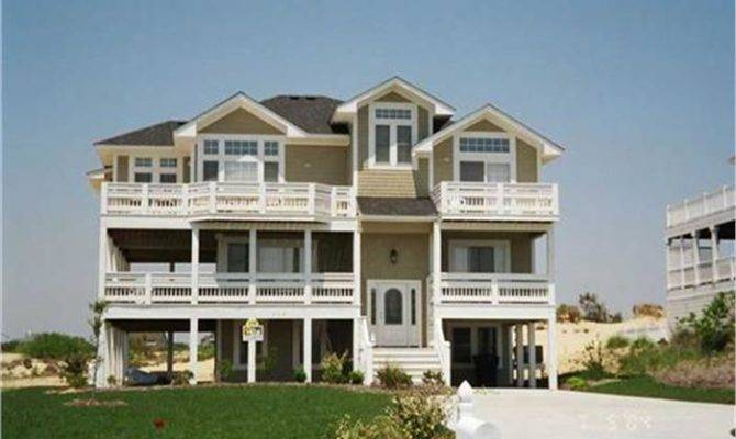 Coastal House Plan Casual Informal Living Oceanfront