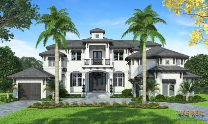 Coastal House Plan Luxury Story West Indies Home Floor