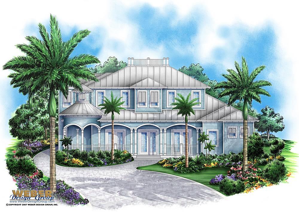Coastal House Plan Sunset Cove Weber Design Group