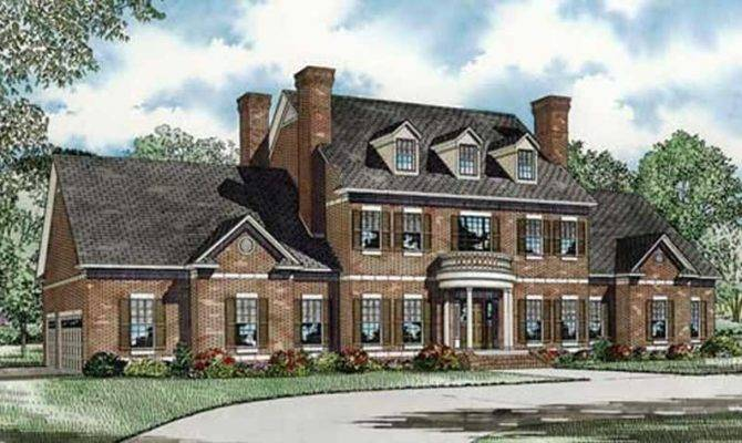 Colonial House Plan Bedrm Home