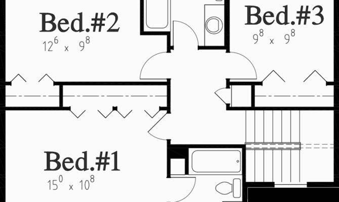 Colonial House Plan Bedroom Bath Car Garage
