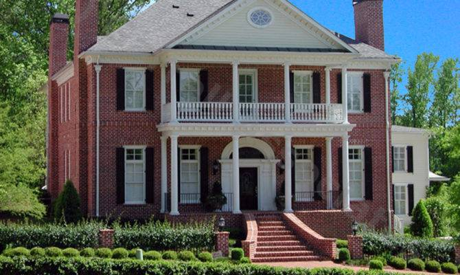 Colonial Luxury House Plans Design