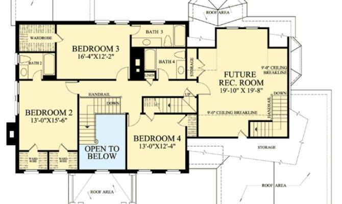 Colonial Open Floor Plam Architectural