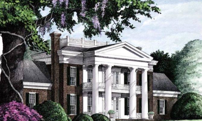 Colonial Plantation Southern House Plan