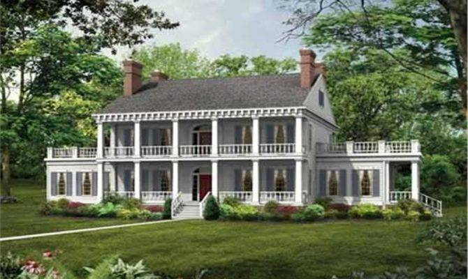 Colonial Plantation Style House Plan