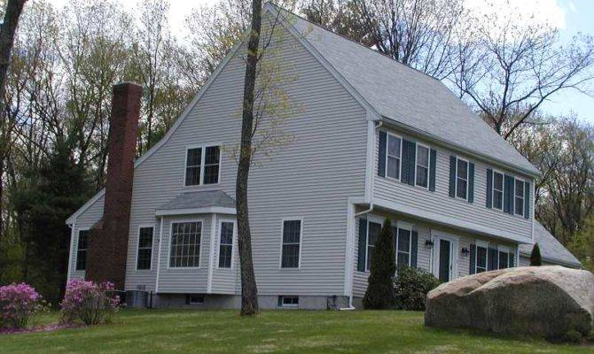 Colonial Saltbox House Plans Over