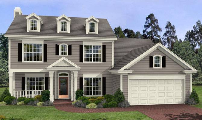 Colonial Two Story House Plans Car Tuning