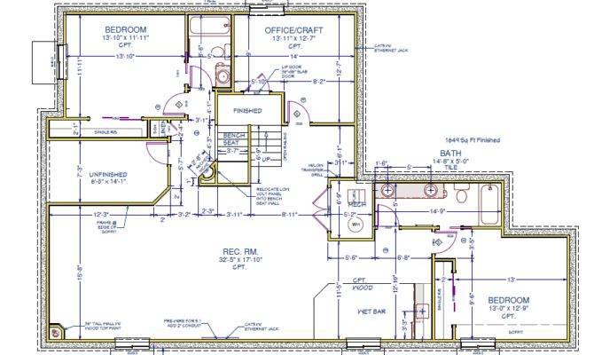 Colorado Springs Custom Basement Finish Floor Plan Frompo