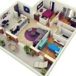 Colored Houses Ideal Choice Two Bedrooms Spacious Living