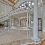Combination Between Marble Floors Hardwood Floor