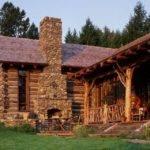 Combination Logs Stone Cabins Log Homes Tree Hou