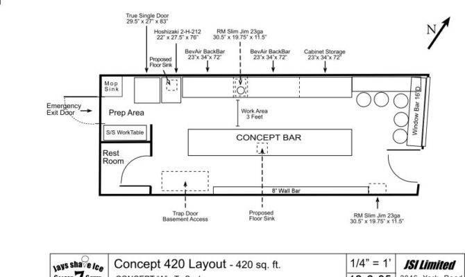 Commercial Bar Design Plans Layout Home