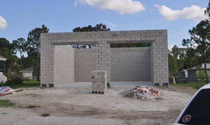 Concrete Block Garage Plan