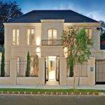 Concrete Georgian House Exterior Fold Windows Feature