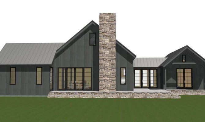 Contemporary Barn Home Plan Lexington