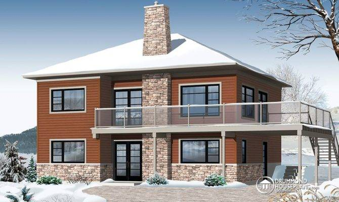 Contemporary Chalet Drummond House Plans Blog