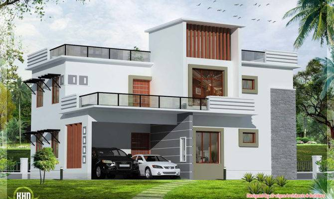 Contemporary Flat Roof House Kerala Home Design Floor Plans