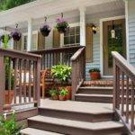 Contemporary Front Deck Tan Painted Wooden