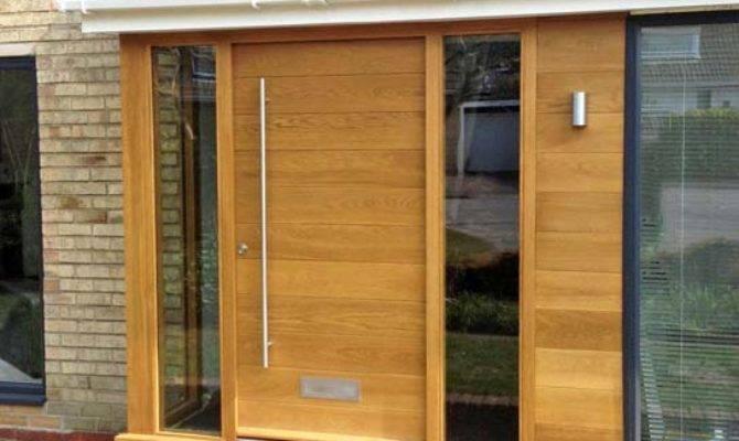 Contemporary Front Doors Oak Iroko Other Woods