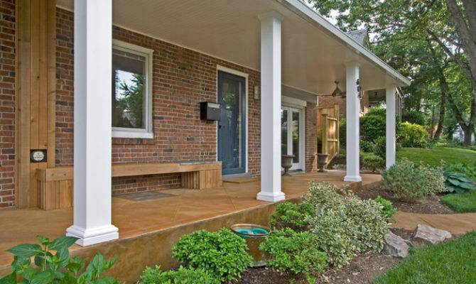 Contemporary Front Porch Bethesda