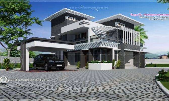 Contemporary Home Design Feet Kerala
