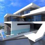 Contemporary House Plans Beach Style Pool German