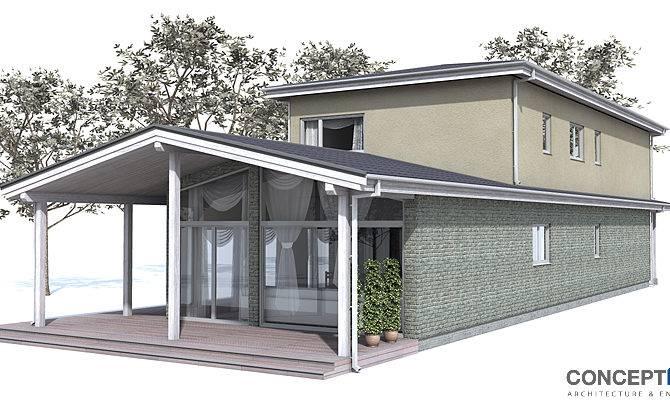 Contemporary House Plans Narrow Design