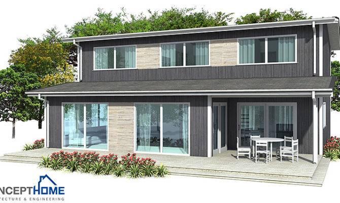 Contemporary House Plans Narrow Plan
