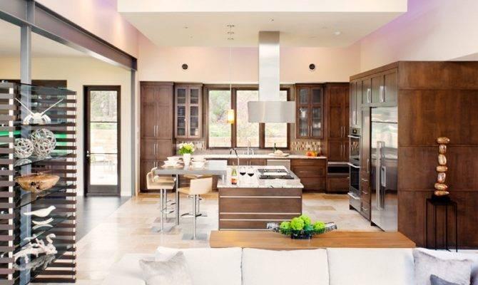 Contemporary Interior Design Great Open Kitchen Floor Plans