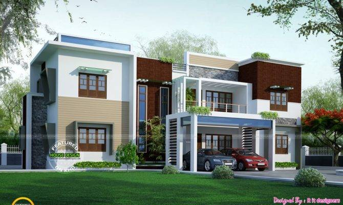 Contemporary Modern House Plans Flat Roof Home Deco