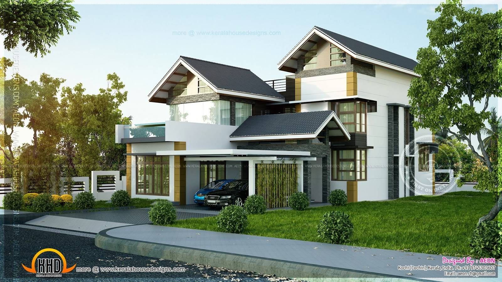 Contemporary Sloping Roof Home Interior Design Floor Plans Home Plans Blueprints 13189