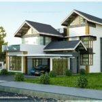 Contemporary Sloping Roof Home Kerala Design Floor Plans