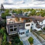 Contemporary Split Level House Views Downtown Seattle
