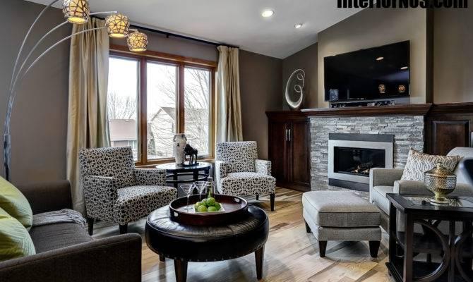 Contemporary Split Level Remodel Living Room Interiorno Home