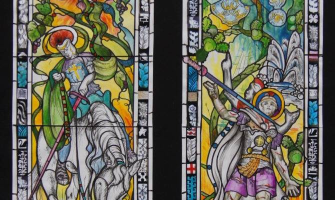 Contemporary Stained Glass Windows Designs Modern Clipgoo