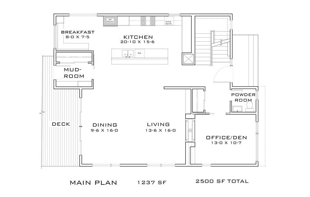 Contemporary Style House Plan Beds Baths