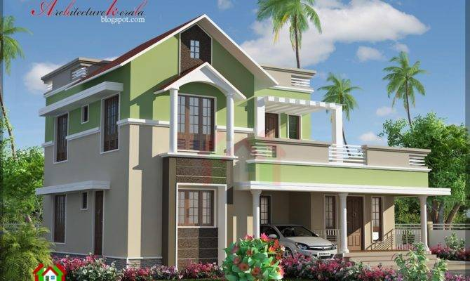 Contemporary Style Kerala House Elevation Woody Nody
