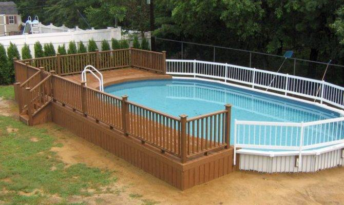 Contemporary Swimming Pool Wooden Deck Designs