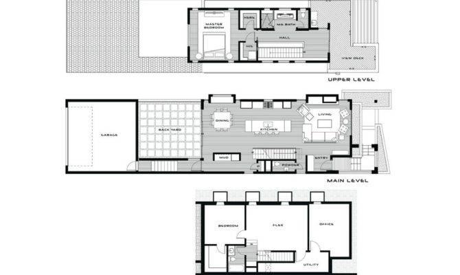 Contemporary Three Level Home Showcasing Creative Design