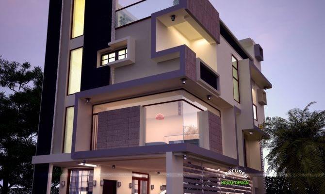 Contemporary Three Storied Home Kerala Design