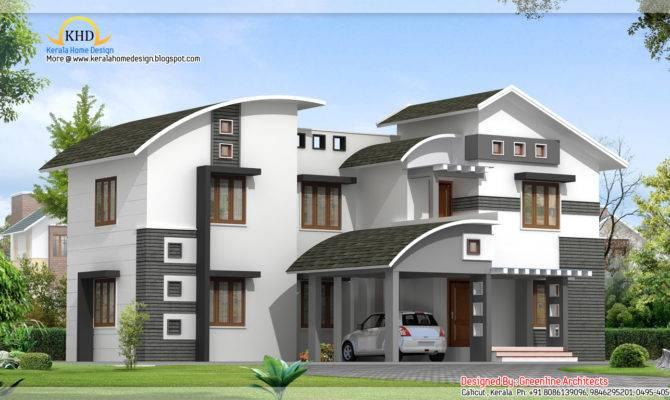 Contemporary Villa Design Kerala Home Floor
