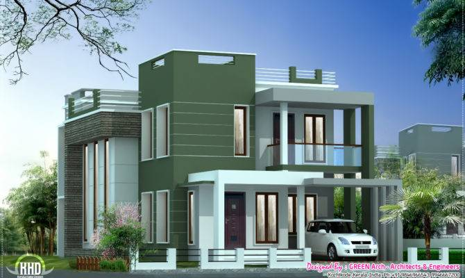 Contemporary Villa Elevation Feet Kerala Home Design