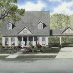 Convenient Porte Cochere Hwbdo Country Builderhouseplans