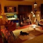 Cool Rec Room Bar Kitty Colorful Living Pinterest